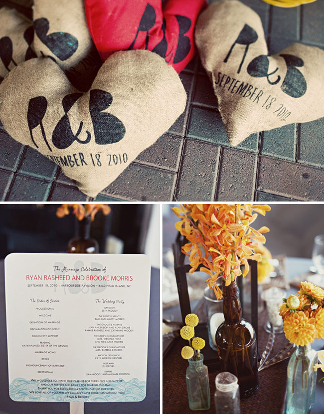 wedding heart pillows