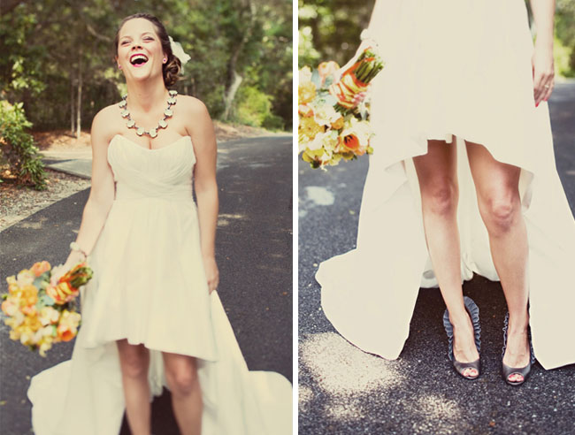 short long wedding dress