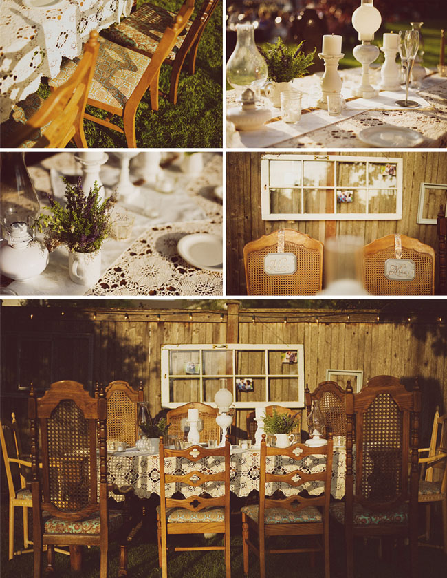 backyard vintage wedding decorations