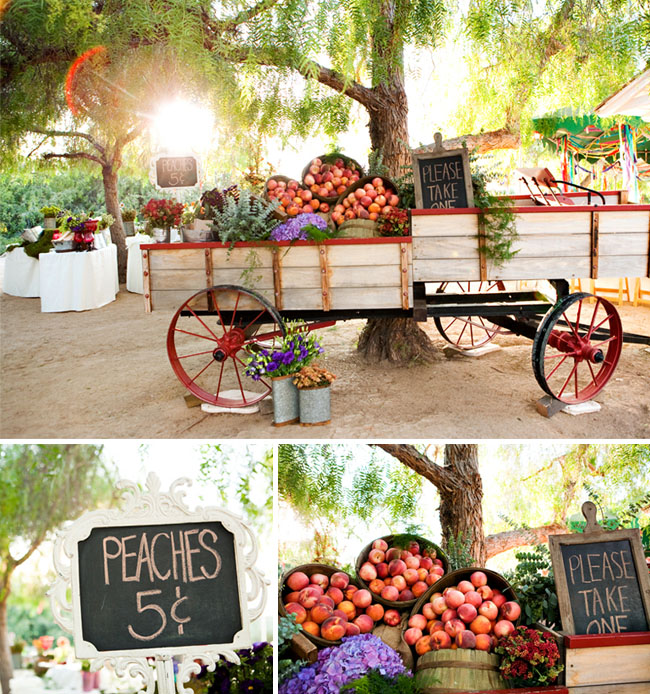 apple cart at wedding