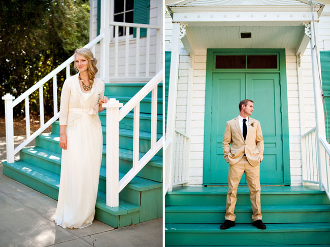 wedding dress with anthropologie sweater
