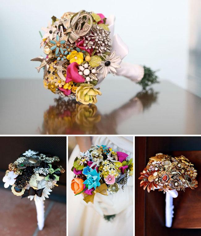 brooch bouquet fantasy florals