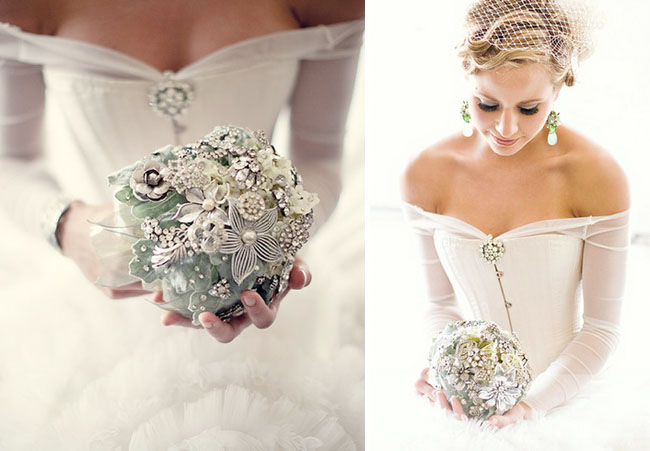 whimsical brooch bouquet