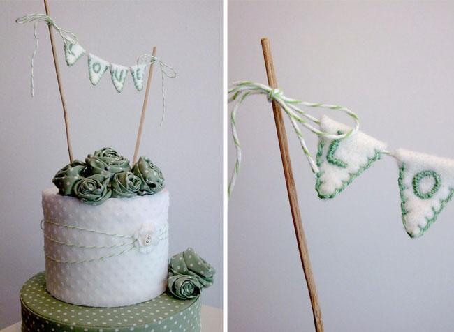 cake bunting love