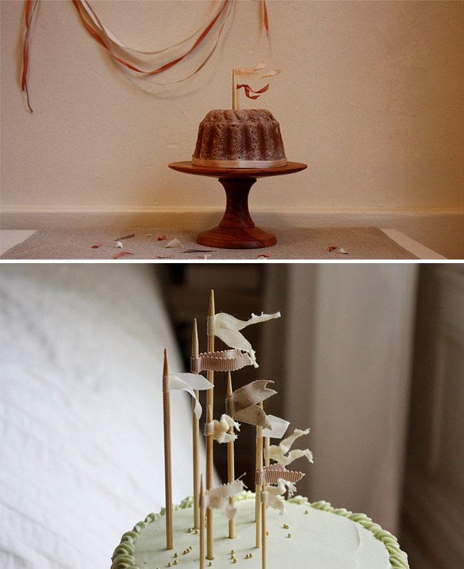mini flags on cakes