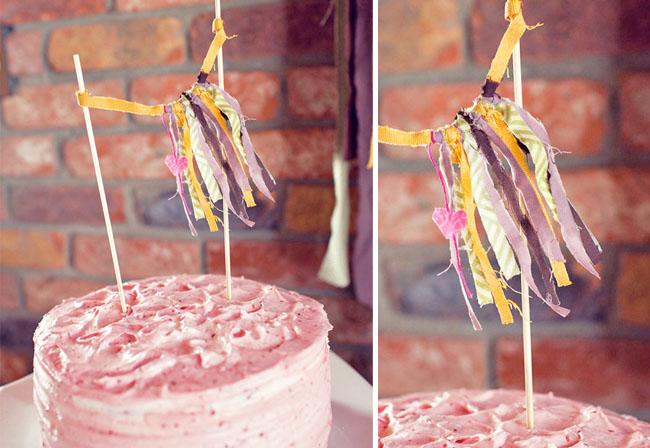 cake fringe topper