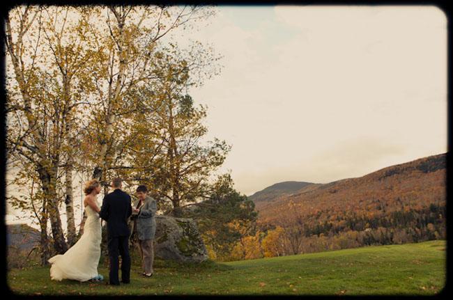 fall outdoors elopement