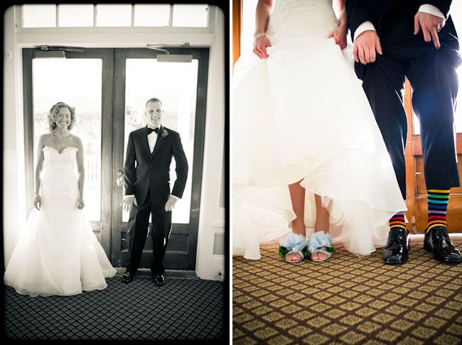 fun shoes and crazy socks wedding
