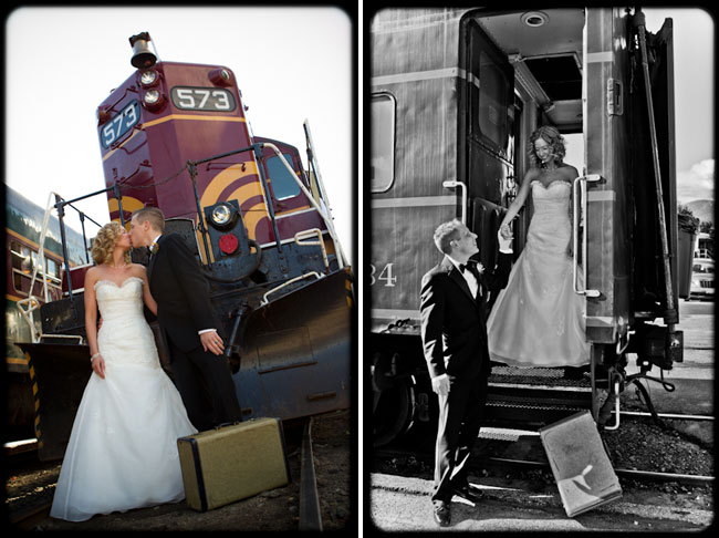 wedding elopement via train