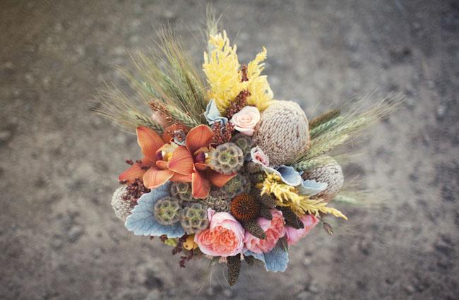 rustic wedding bouquet peony
