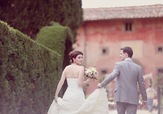 bride and groom italy