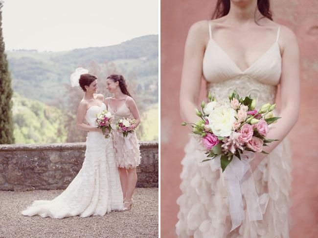 bridesmaid ruffled dress