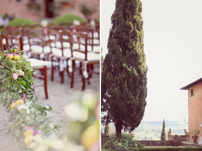 tuscan wedding ceremony lemons
