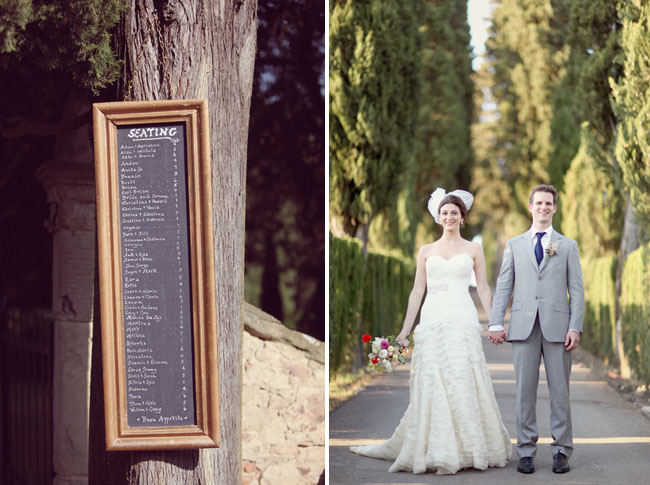 chalkboard menu wedding