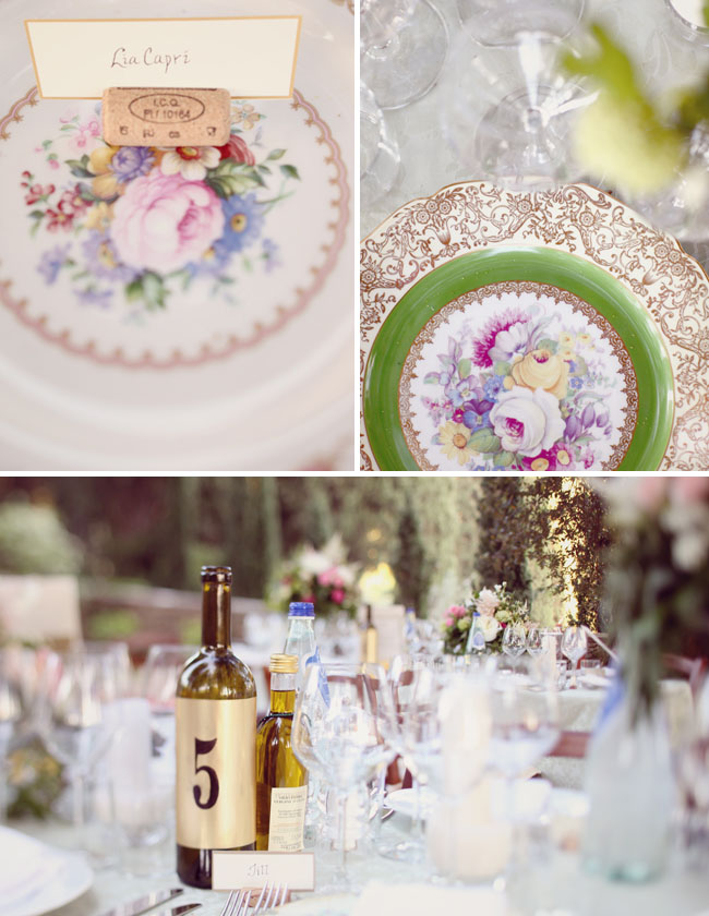 vintage plates reception