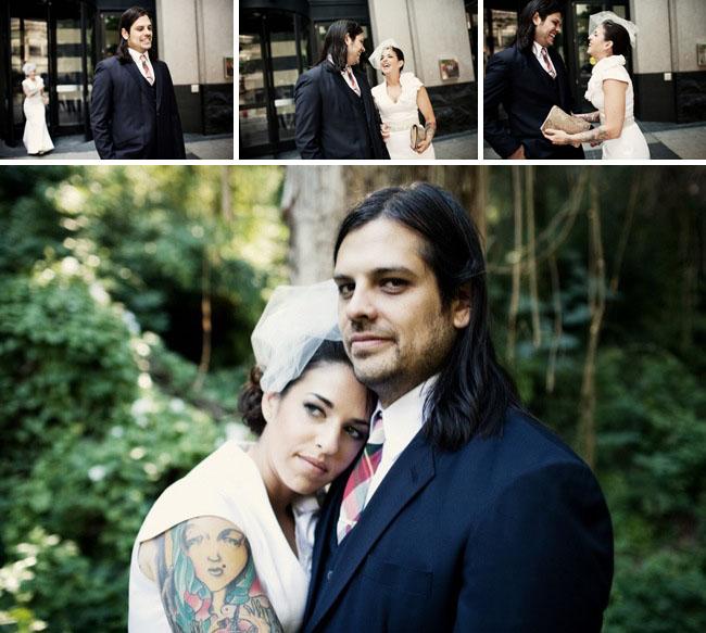 bride with tatoos