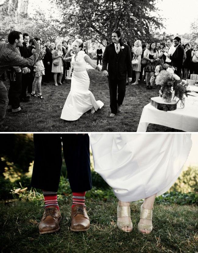 jimmy choo shoes and colorful socks on groom
