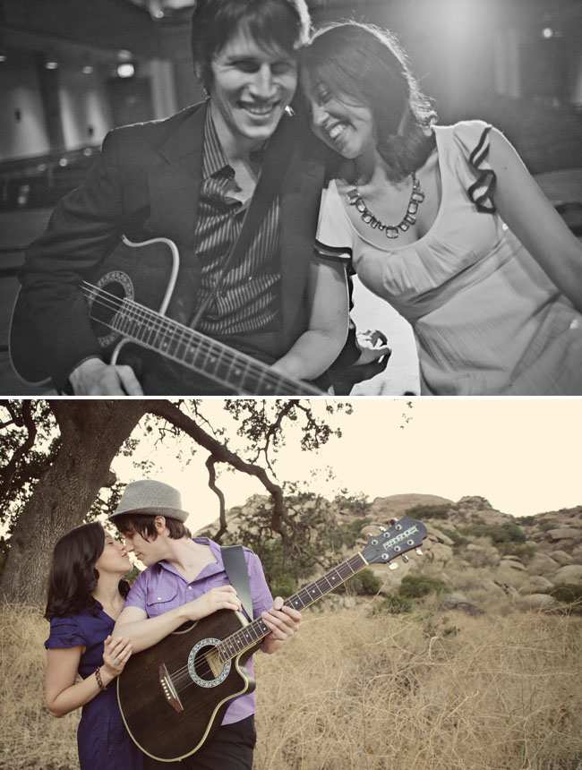 music inspired engagement photos