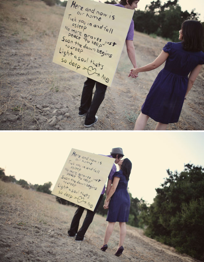 canvas with song lyrics engagement pictures