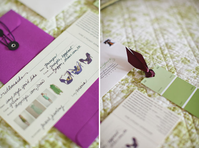 bridesmaid color swatches