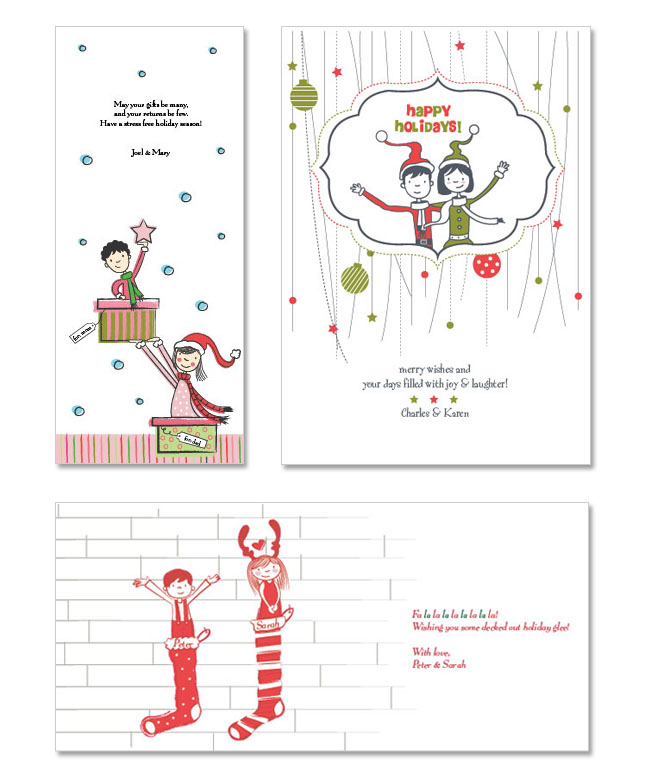 holiday custom christmas cards
