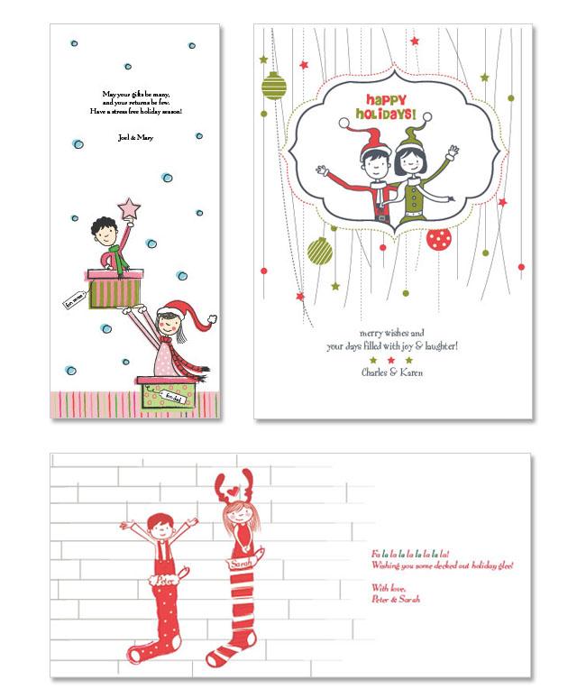 holiday custom christmas cards