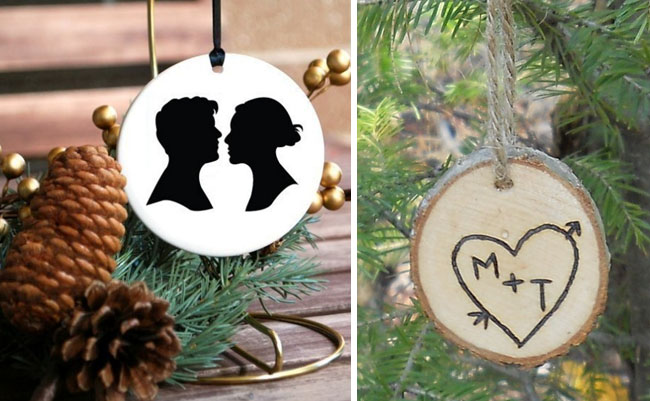 custom newlywed ornaments
