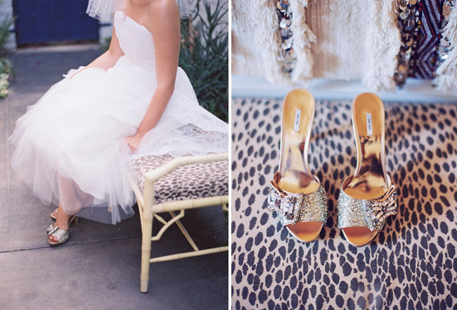 sparkly gold wedding shoes