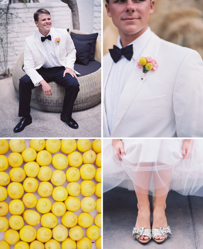 groom in white tux