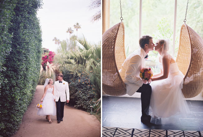 bride and groom at parker palm springs