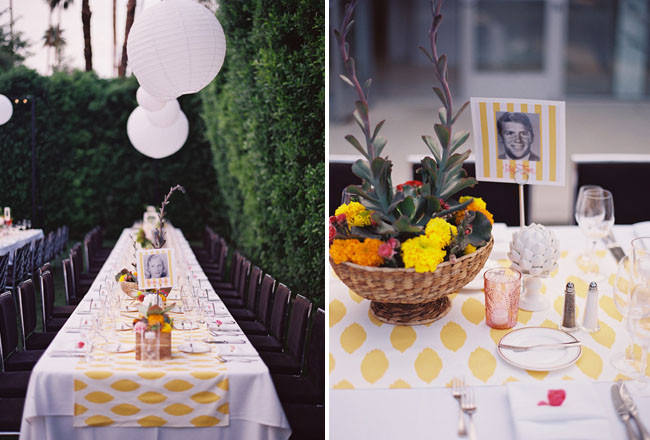 modern tables for wedding