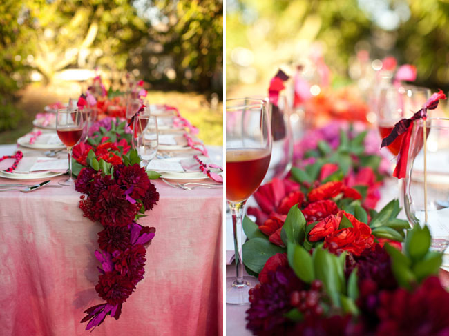 pink watercolor tablecloth