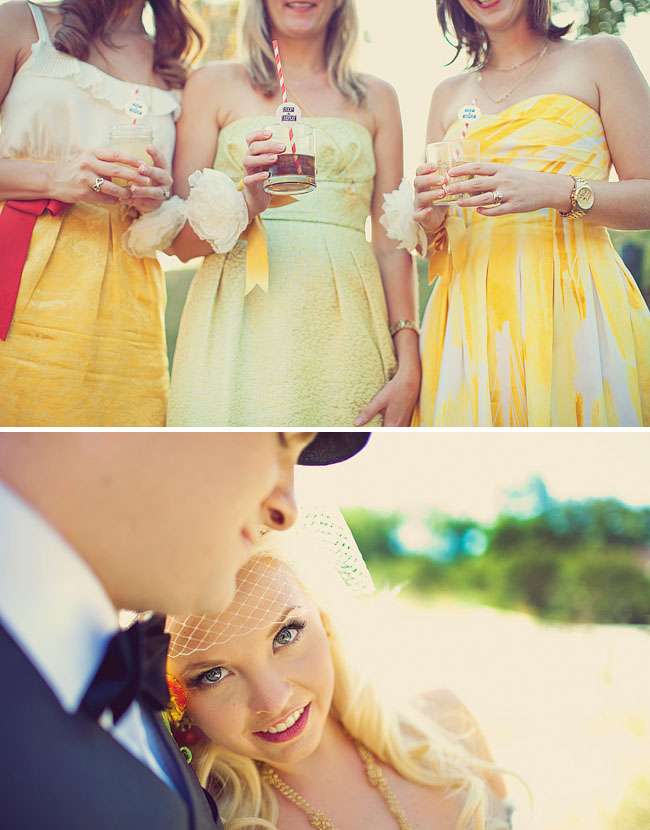 bridesmaids with corsages