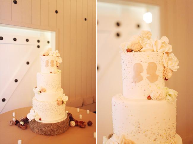 wedding cake silhouettes balsa wood flowers