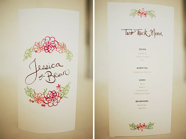 illustrated wedding programs