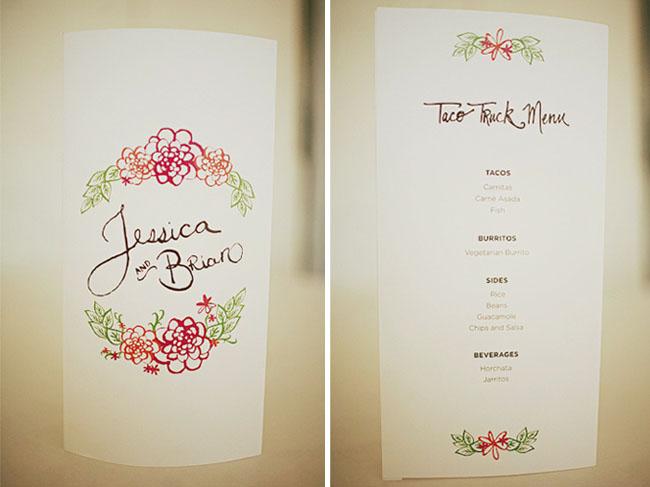 illustrated wedding programs