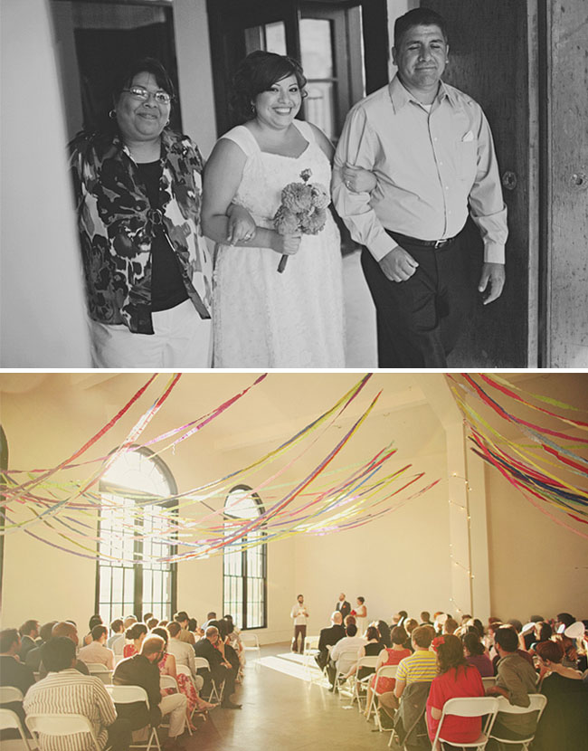 wedding with streamers