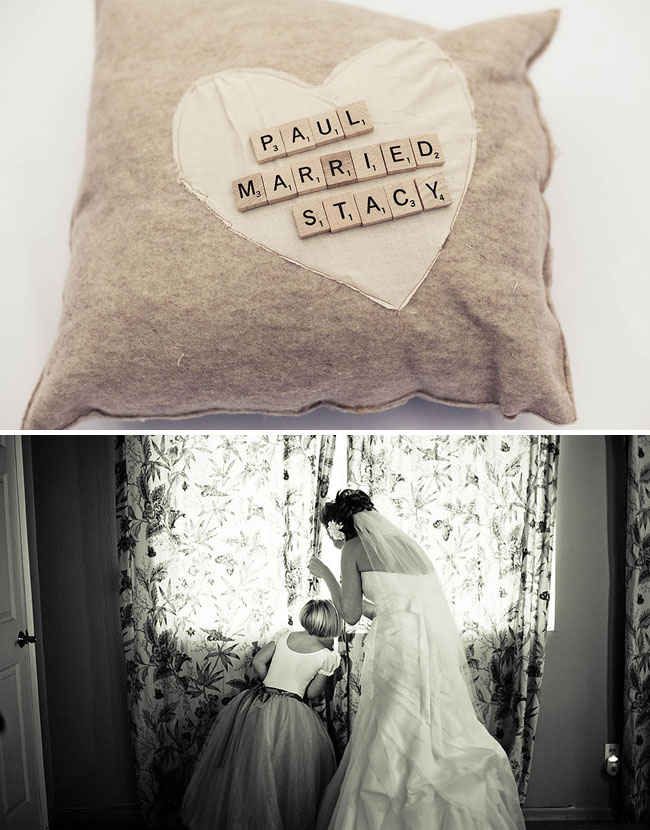 scrabble ring bearer pillow