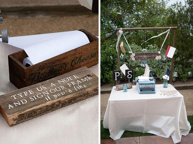 wedding typewriter guestbook