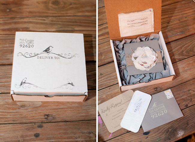wedding invitation in a box