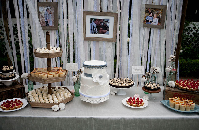 wedding dessert table my sweet saucy