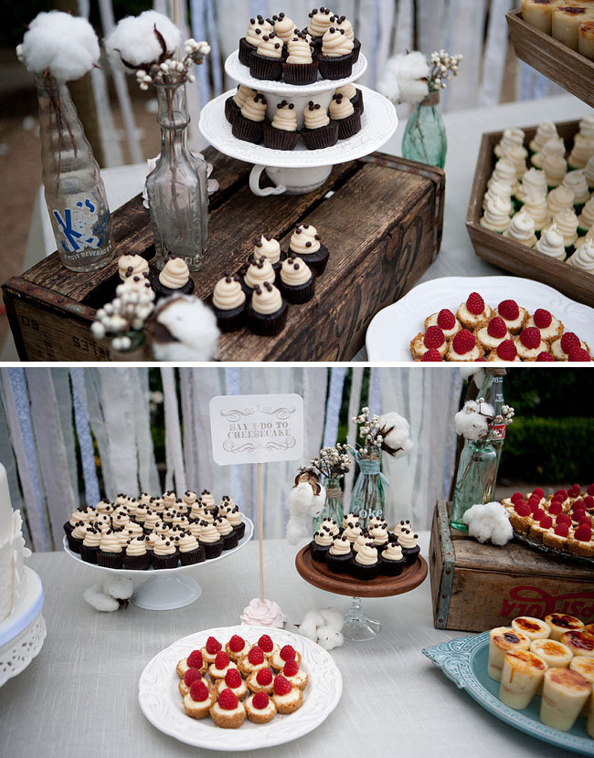 mini desserts wedding cheesecake