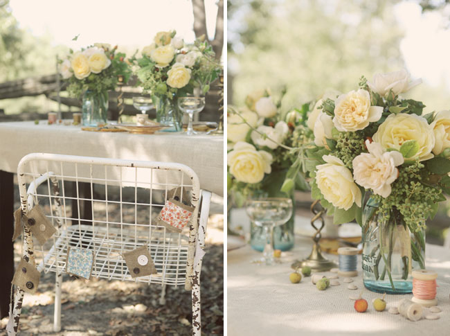 Rustic vintage wedding ideas green wedding shoes - Decoration de table vintage ...