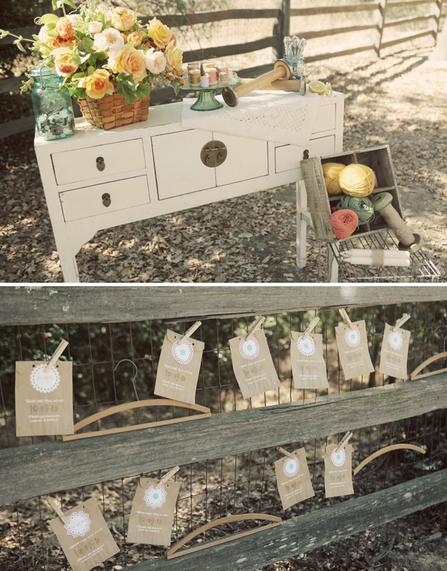 rustic dessert table & Rustic Vintage Wedding Ideas - Green Wedding Shoes