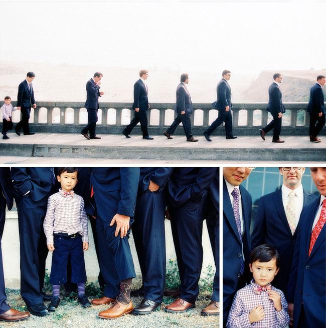 groomsmen and ring bearer