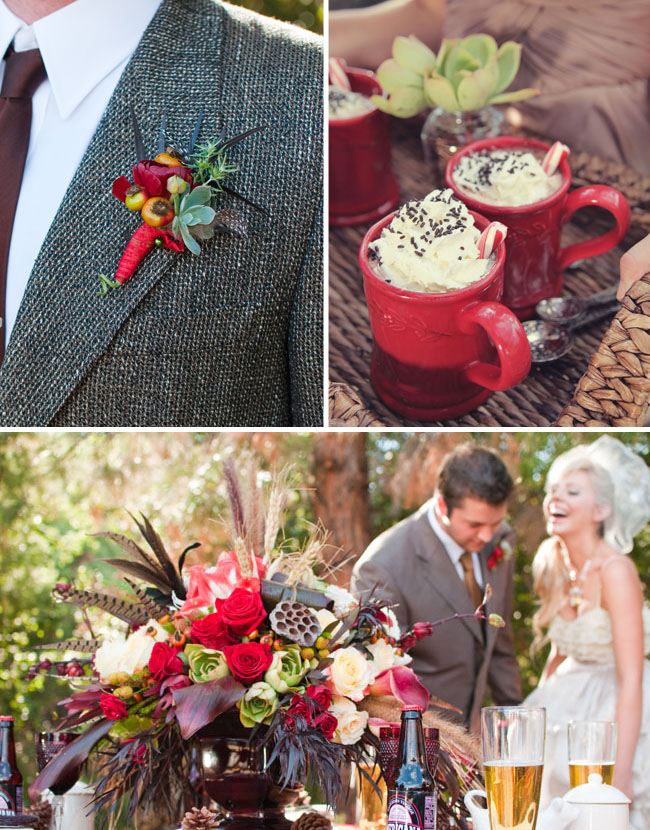 hot chocolate winter wedding