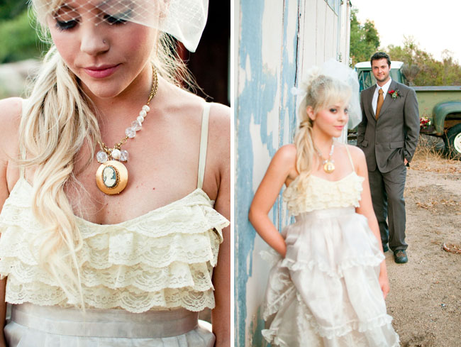 Bride With Romantic Wedding Dress