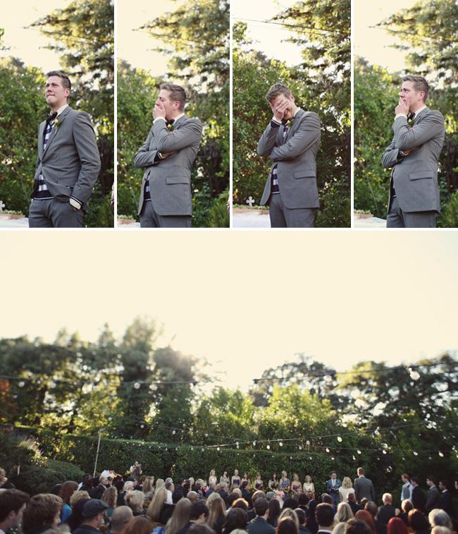 groom first look emotional