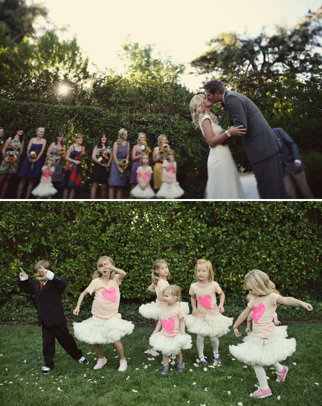 flower girls tutus and heart shirts