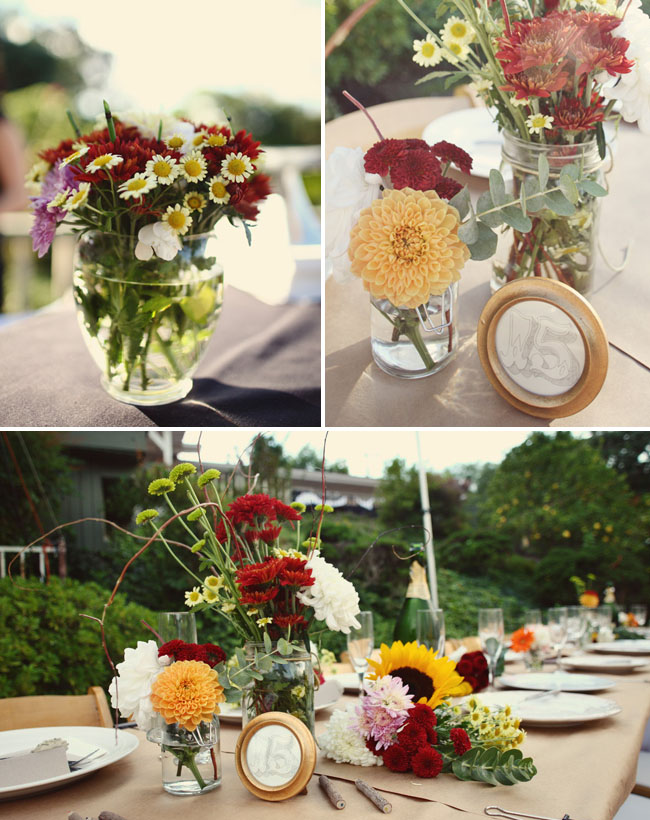 wildflowers centerpieces